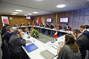 Presidents of Parliament of the Small European States meeting in Andorra, 26 September 2014. Photo: Eduard Comellas.