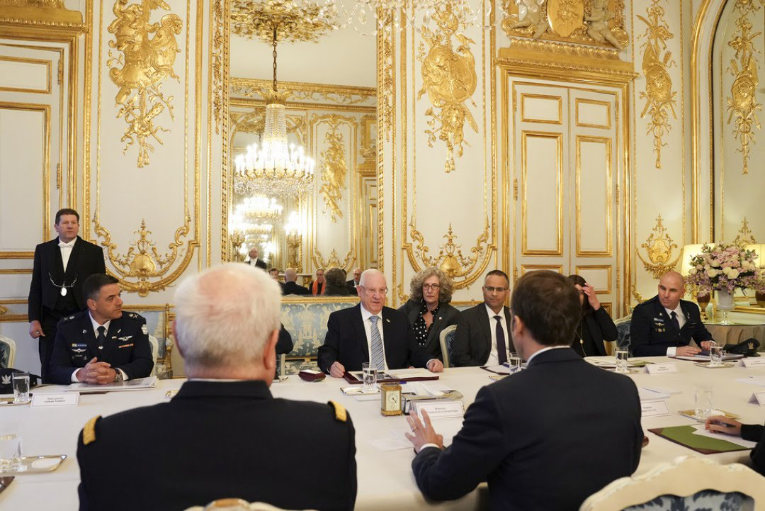 Conference interpretation for President Rivlin in Paris